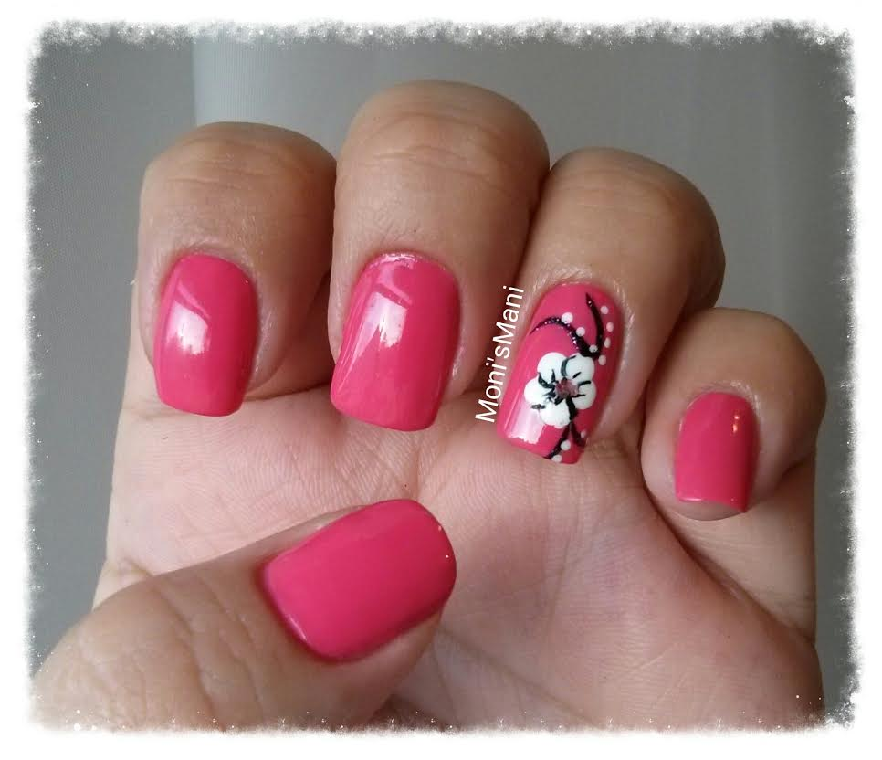opi feeling hot hot hot and flower 2