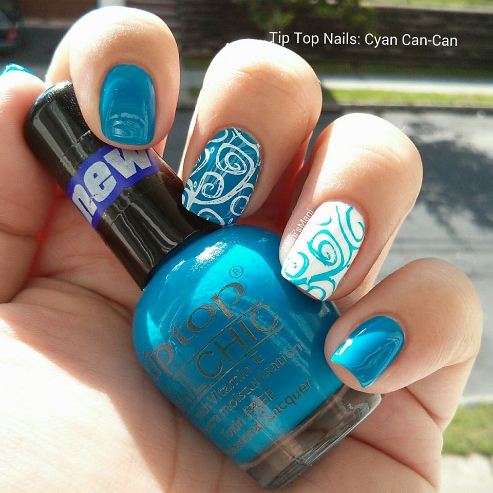 tip top cyan can-can stamped