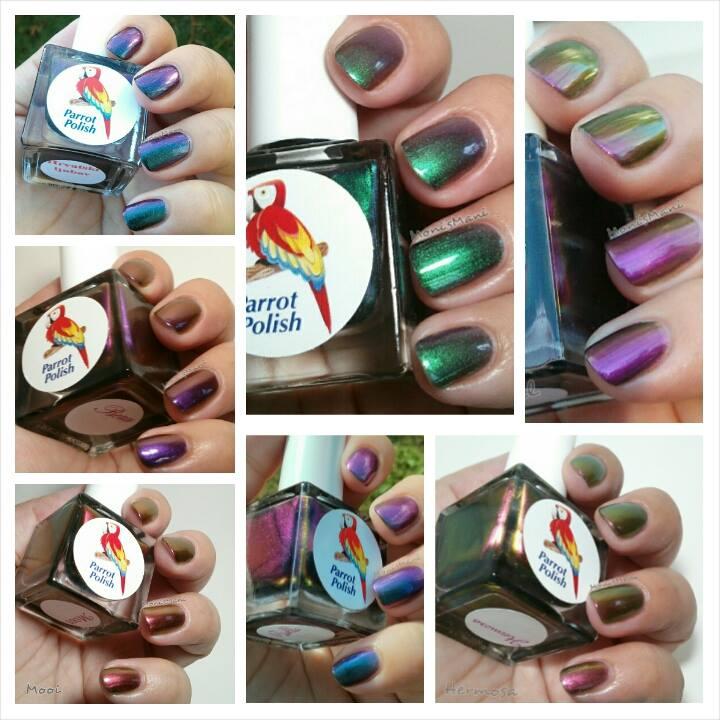 parrot polish beauties